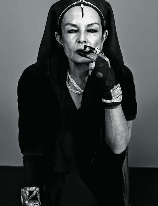 Michele Lamy - Le Smoking - vogue paris