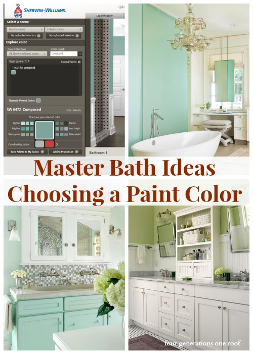 Master Bathroom ideas {green} - Four Generations One Roof