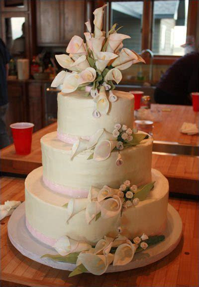 Calla Lily Wedding Cake   2blue dogs' blog
