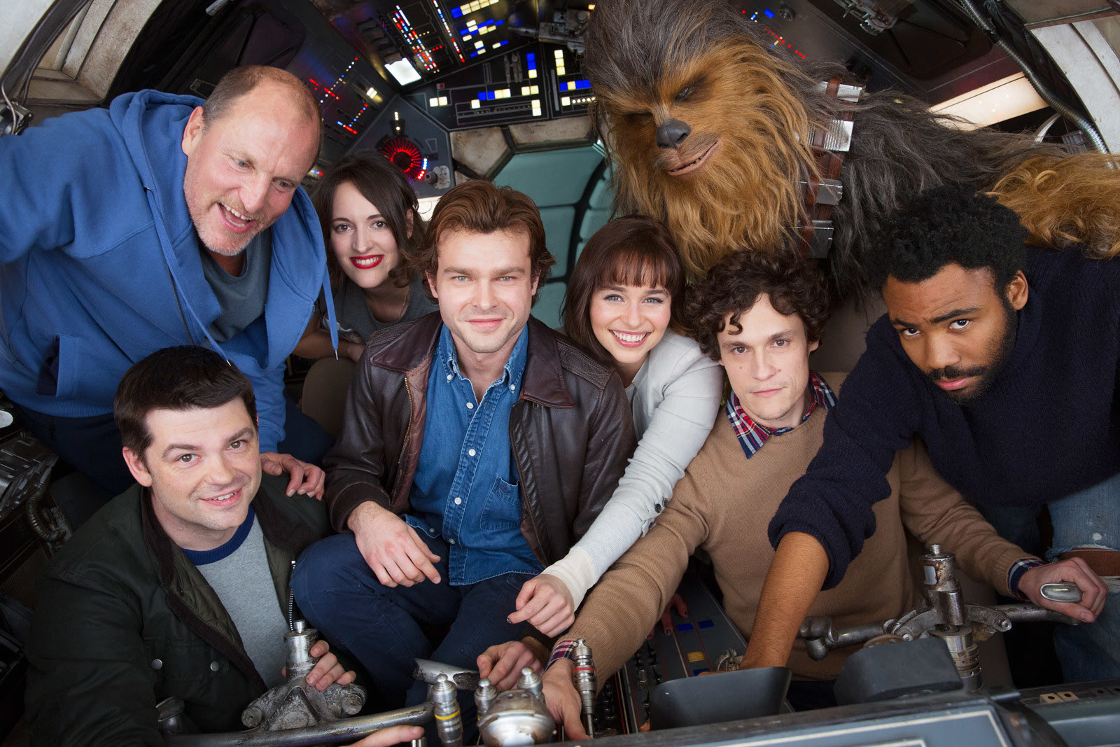 The first cast photo from the Han Solo spin-off film. (Lucasfilm)