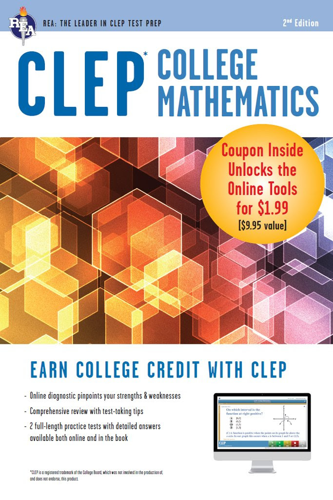 CLEP College Mathematics with Online Practice Exams (CLEP Test ...