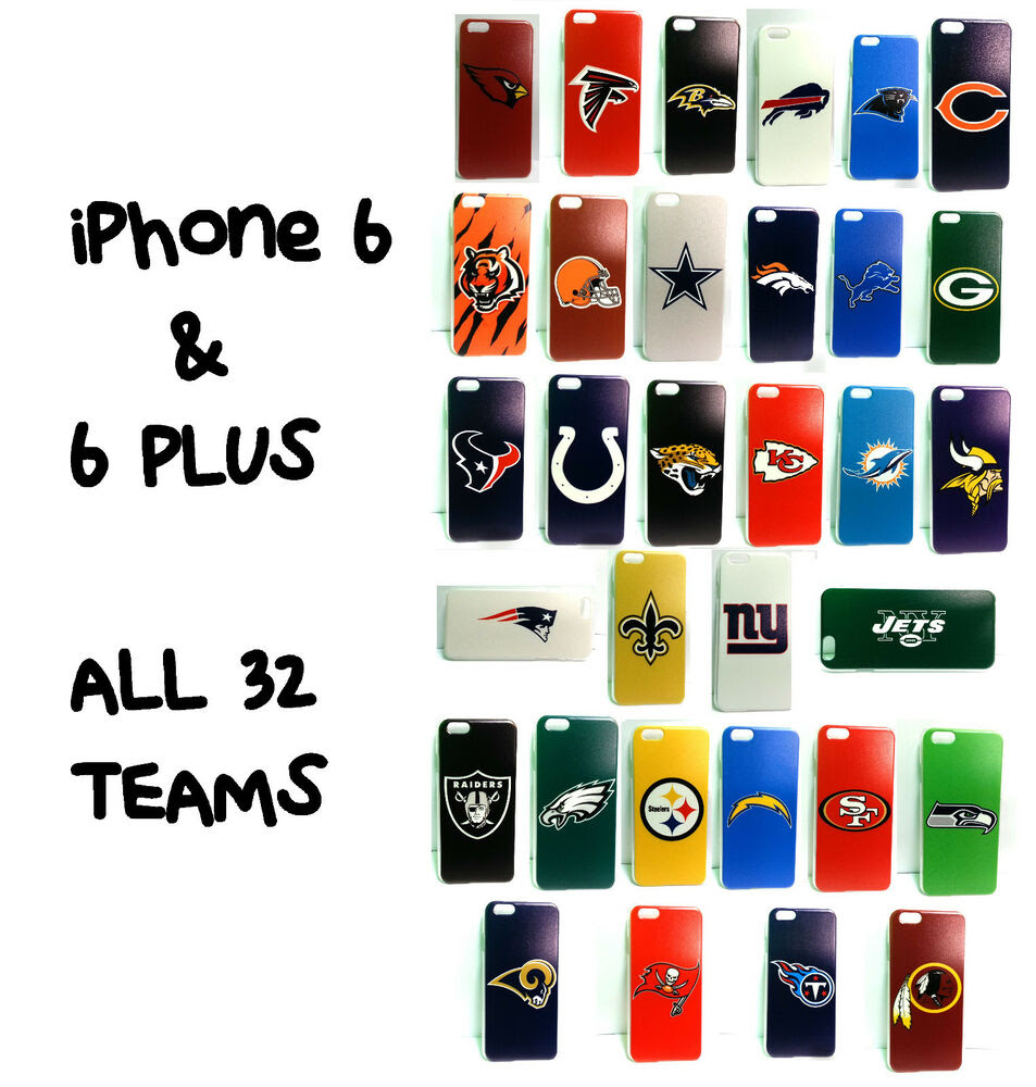 NEW *PICK YOUR TEAM* iPHONE 6 PLUS NFL PHONE CASE FOOTBALL HAT STOCKING STUFFER  eBay