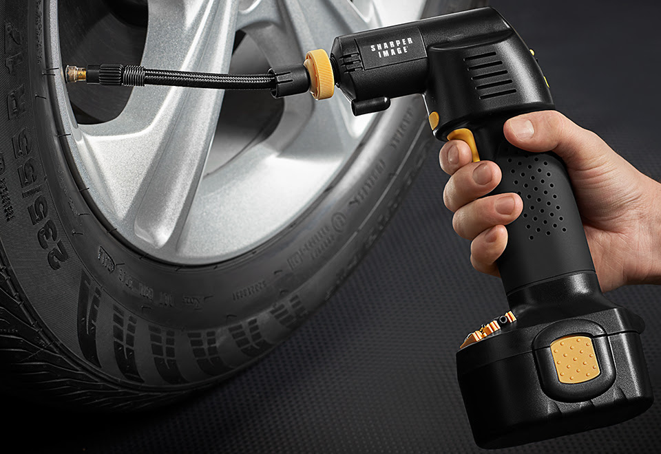 Cordless Auto Stop Tire Inflator Sharper Image