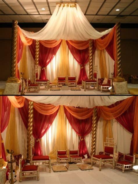 Indian Wedding Indoor Mandap   Maharani Weddings