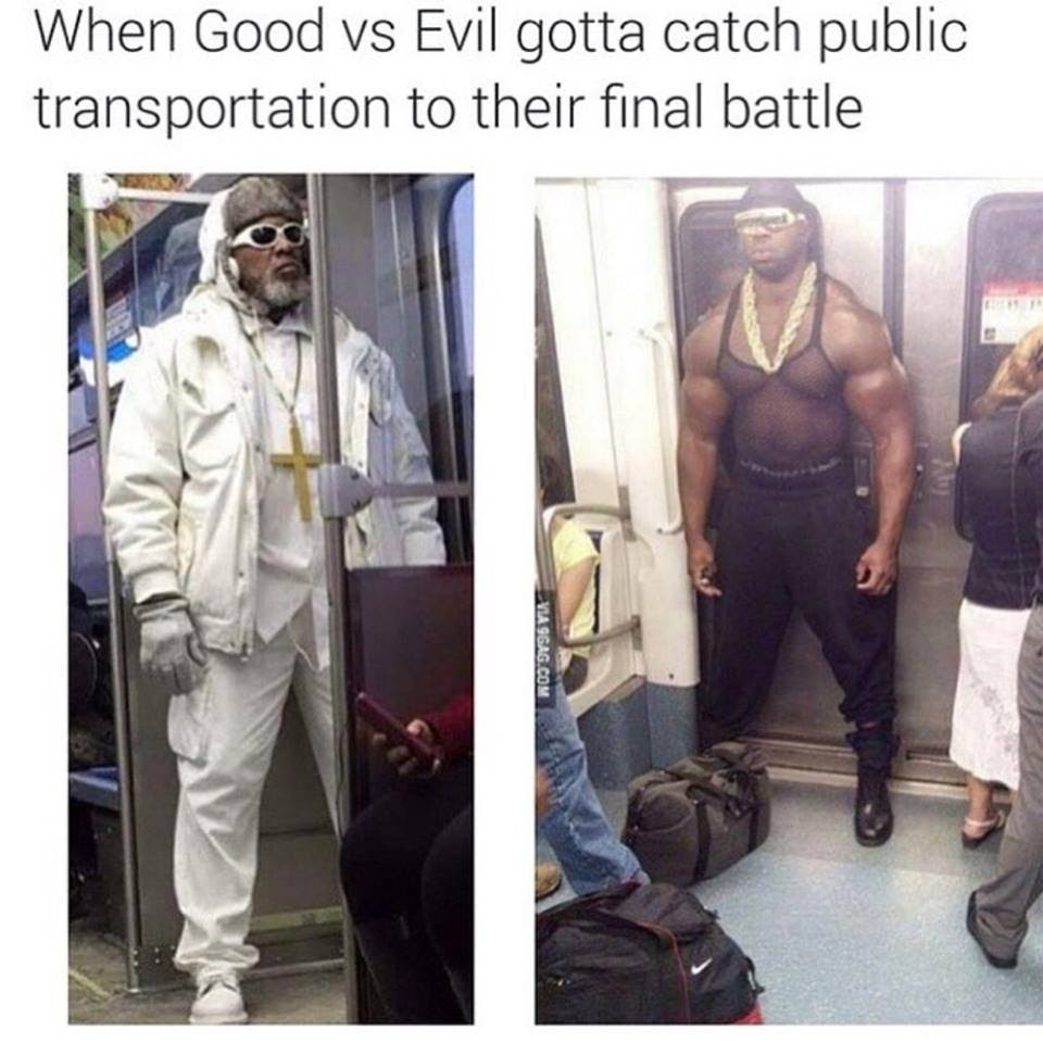 Good Vs Evil On Public Funny Pictures Quotes Memes Funny Images