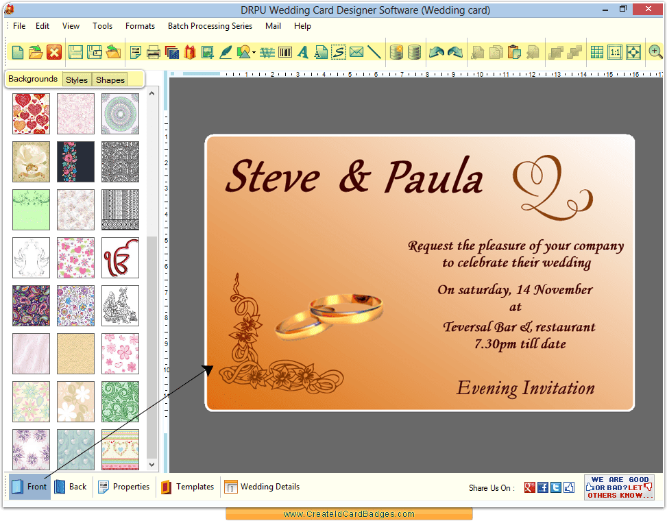 Wedding Invitation Wording: Wedding Invitation Maker Software