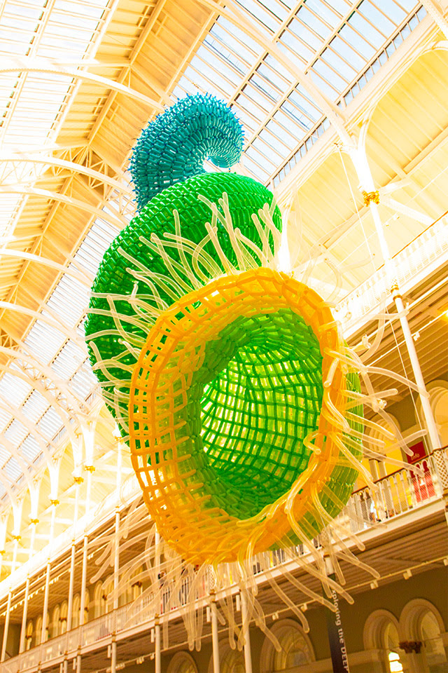 Artist Jason Hackenwerth Unveils Massive New Balloon Sculpture at Edinburgh International Science Festival sculpture balloons