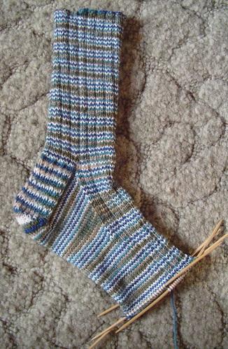 Lorna's Laces sock, Feb. 7, 2006