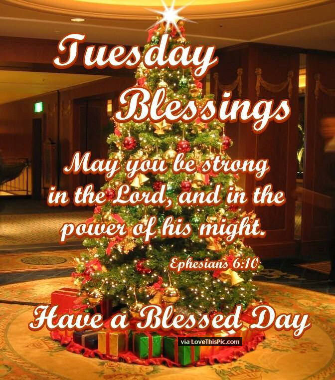 Tuesday Blessings Inspirational Christmas Quote Pictures Photos