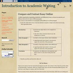 How to write an intro for a comparative essay