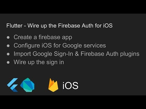 Flutter - Wire up the Firebase Auth for iOS | Code Tips
