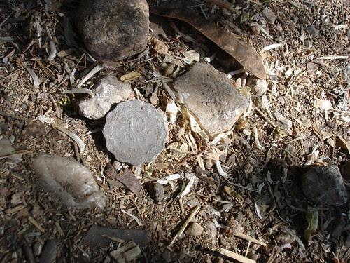 Ten peruta coin reverse
