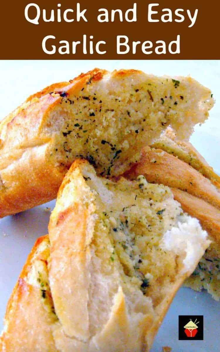 Quick and Easy Garlic Bread - Lovefoodies