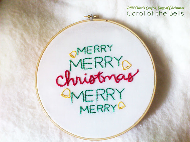 Carol of the Bells Embroidery Pattern