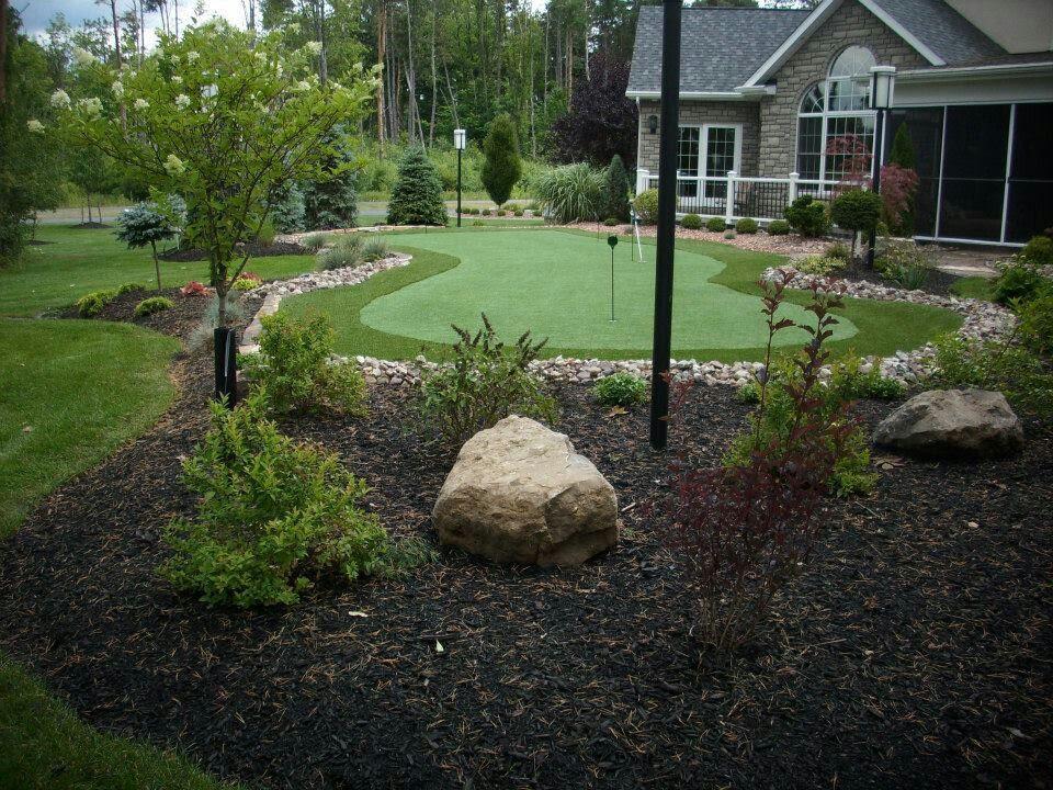 Landscaping ideas backyard golf course home office ideas for Home study garden design courses