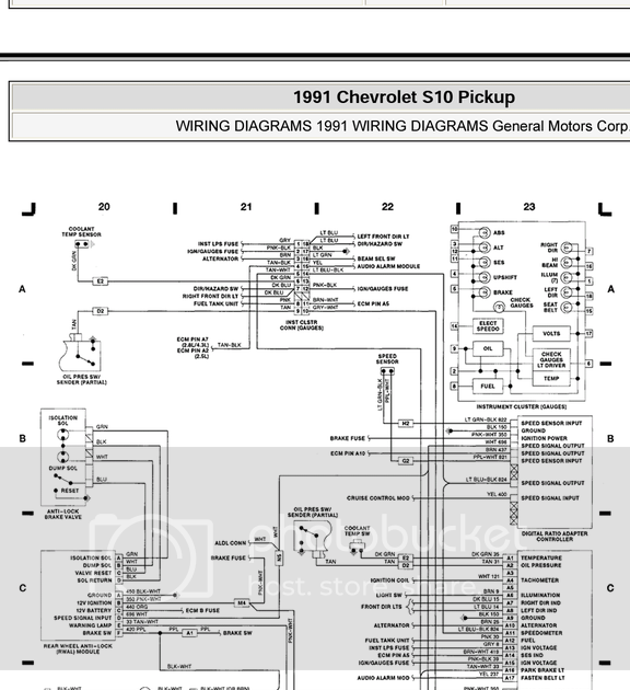 1991 S10 Wiring Diagram