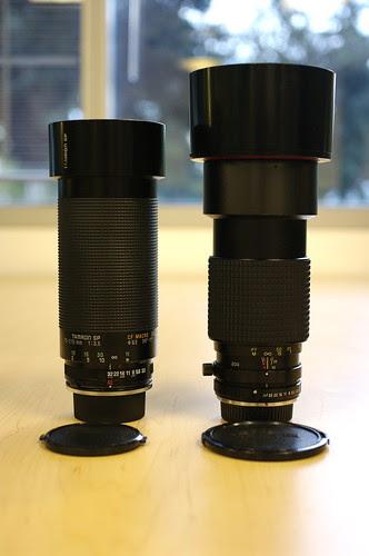 Tamron sp 70-210mm f/3.5 19ah adaptall-2 and Tokina at-x sd 80-200mm f/2.8 SD