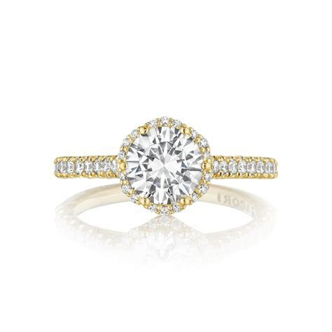 Tacori Engagement Rings Gold Floral Halo Setting