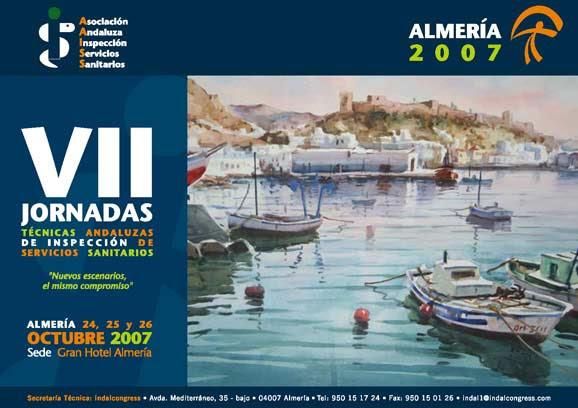 Cartel Anunciador de las VII Jornadas Técnicas Andaluzas de Inspección de Servicios Sanitarios