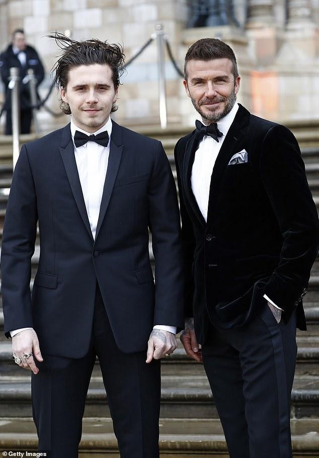 David Beckham FINALLY congratulates son Brooklyn and new fiancée Nicola Peltz on their engagement.
