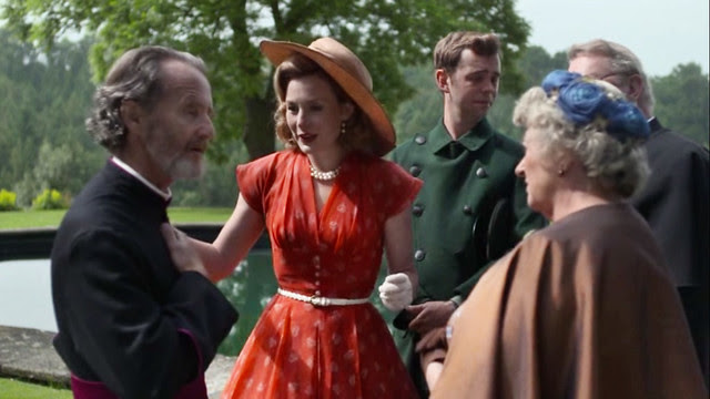 father.brown.lady.felicia.red-orange.dress