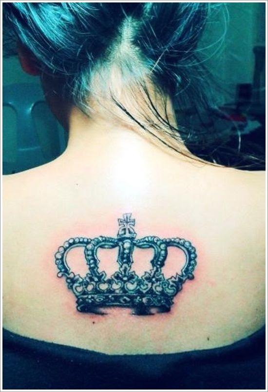 Girls Full Back Crown Tattoo Tattoomagz