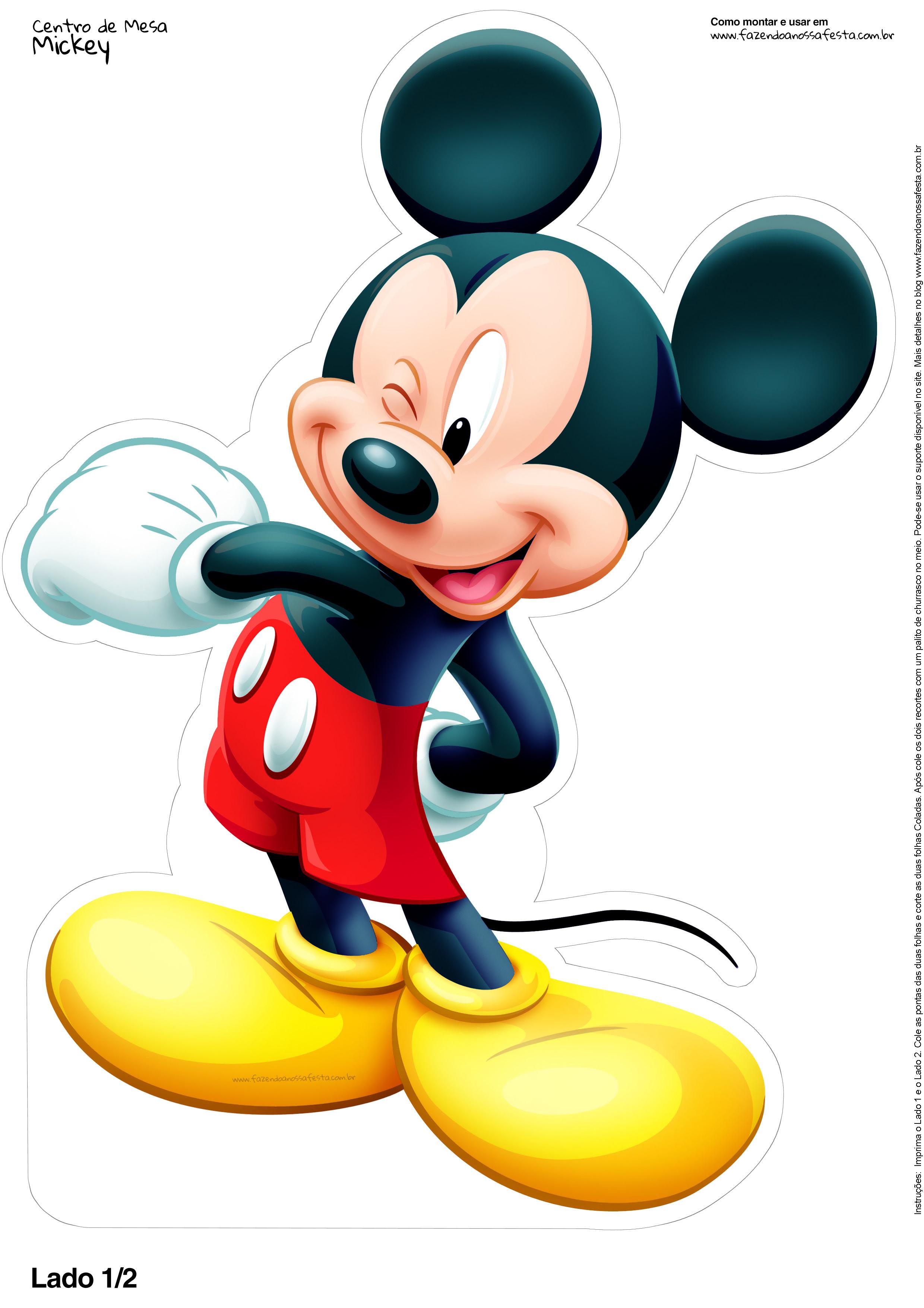 Luxo Desenho Do Mickey Colorido Para Imprimir Melhores Casas De