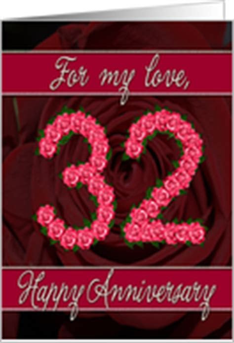 32nd Wedding Anniversary Cards from Greeting Card Universe