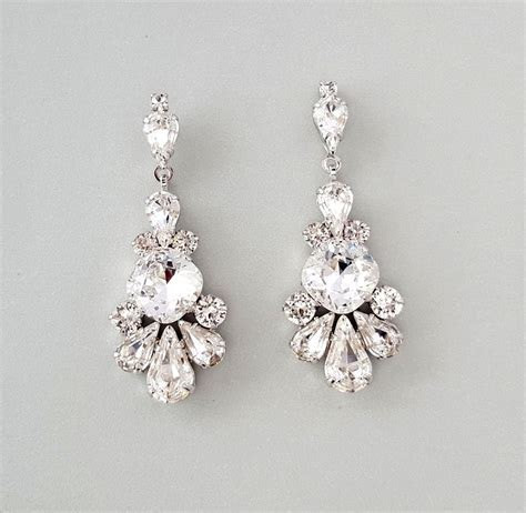 Sparkling Swarovski Crystal Chandelier Earrings   Pretty