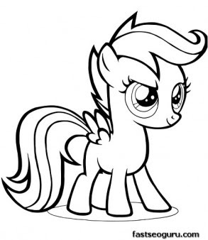 printable my little pony friendship is magic scootaloo