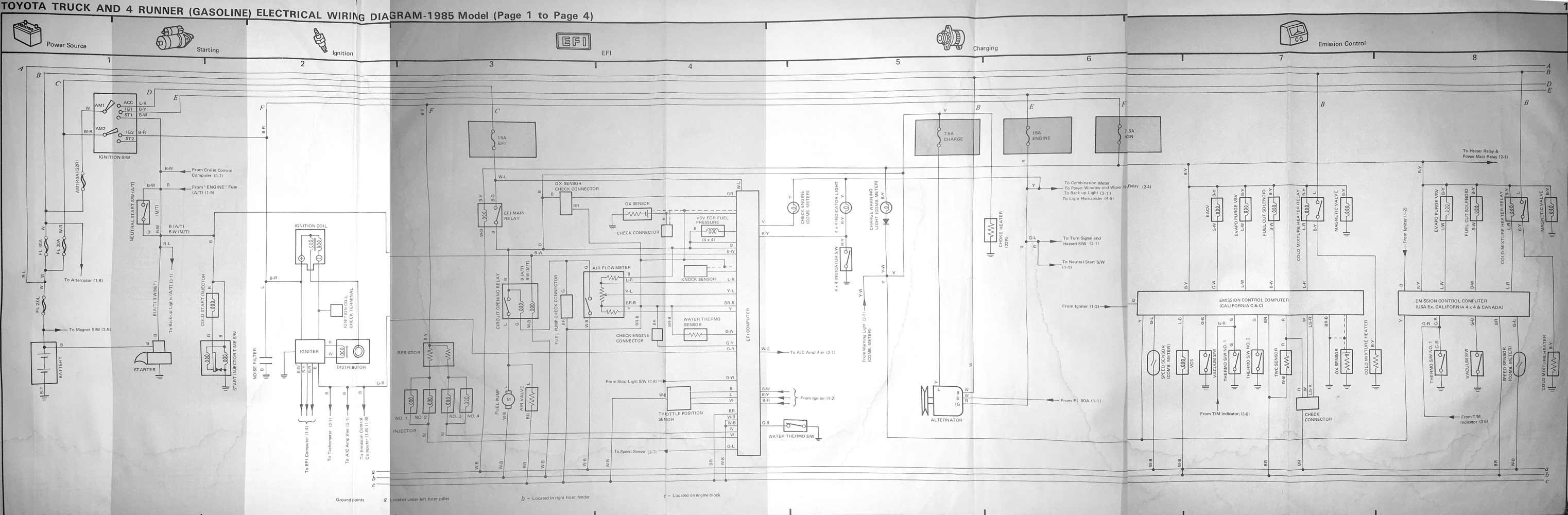 1987 Toyota Truck Engine Diagram Wiring Diagram 92 Toyota Pickup For Wiring Diagram Schematics