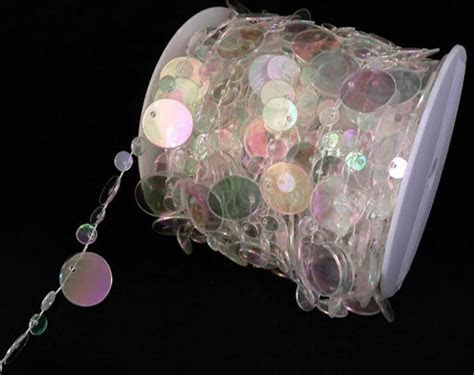 Iridescent Crystal Beads   Style#39   99ft. Roll