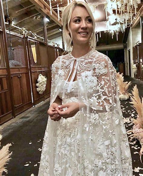 Kaley Cuoco's wedding dress took '400 hours to make'   IOL
