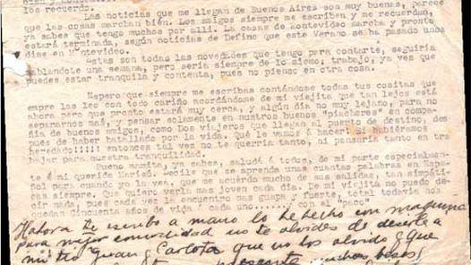 Esta carta está fechada en Nueva York, el 13 de febrero de 1935, cuatro meses antes de la muerte de Gardel.