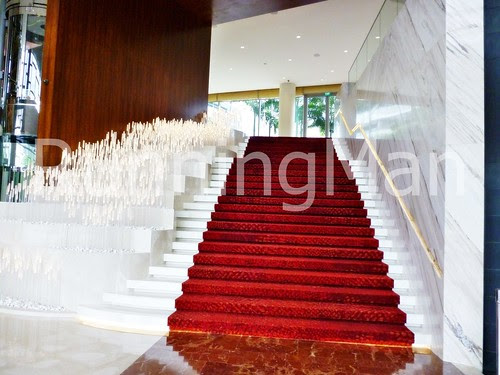 W Hotel Singapore 07 - Grand Staircase & Grass Lights