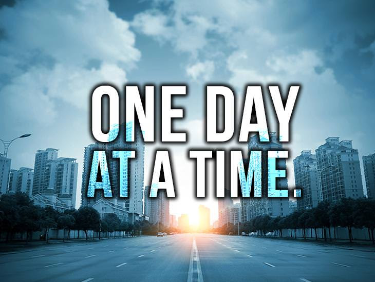 One Day At A Time Inspiring Quotes Ecards Greeting Cards