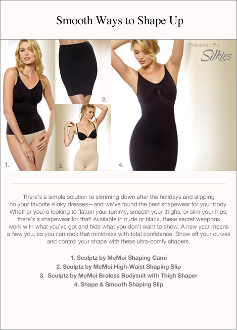 There's a simple solution to slimming down after the holidays and slipping on your favorite slinky dresses -- and we've found the best shapewear for your body. Whether you're looking to flatten your tummy, smooth your thighs, or slim your hips, there's a shapewear for that! Available in nude or black, these secret weapons work with what you've got and hide what you don't want to show.