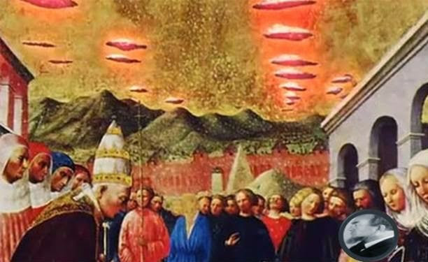 One of the many images from the past which shows the connection between religion and Aliens