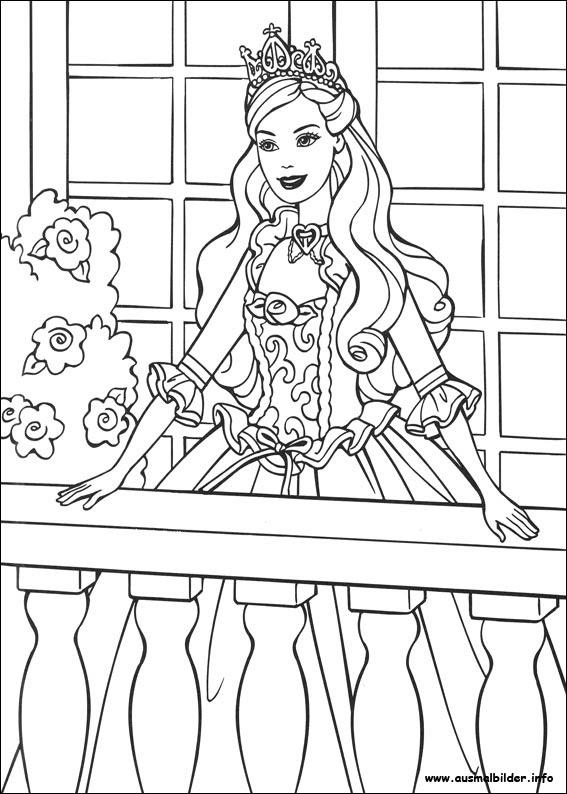 Ausmalbilder Prinzessin Kleid