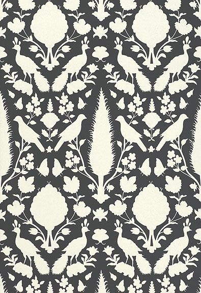 Wallcovering / Wallpaper   Chenonceau in Charcoal   Schumacher