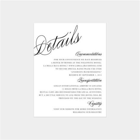 Calligraphy Details Enclosure Cards by fineanddandypaperie