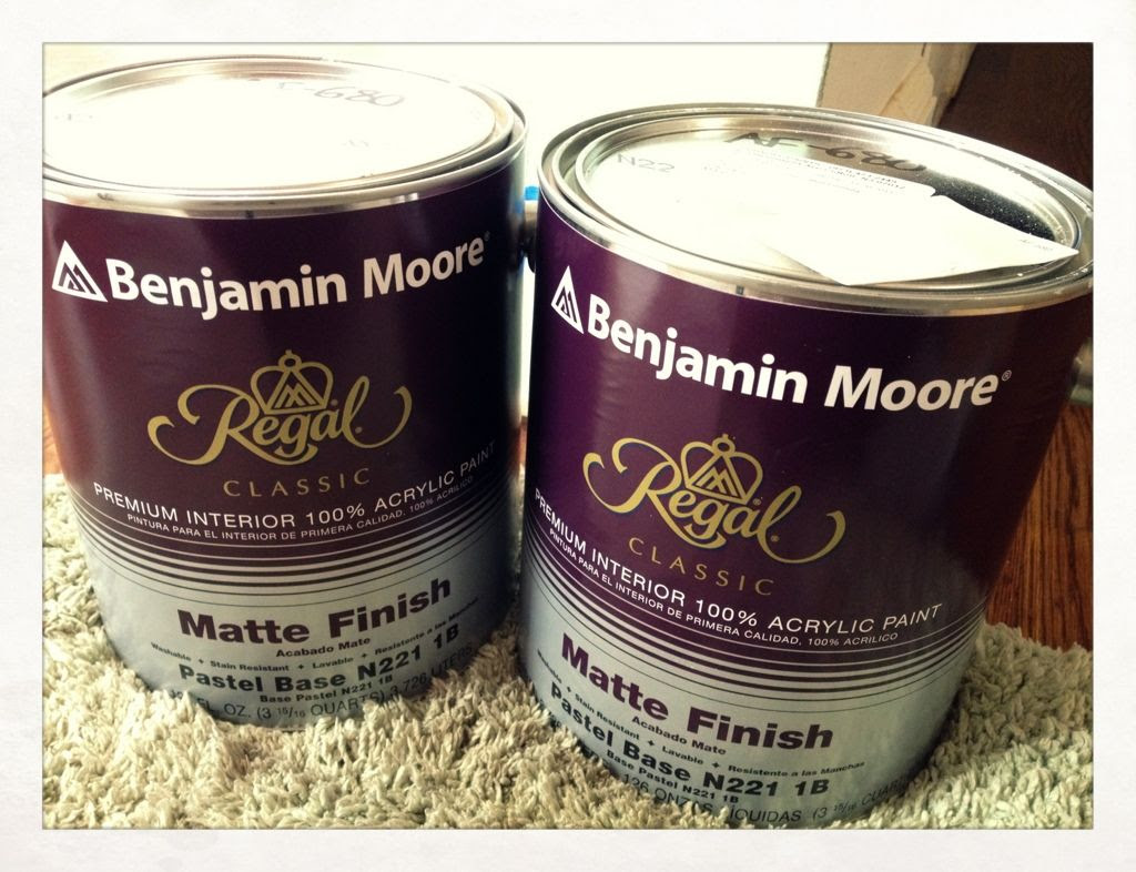 11/30/11, Date night with my favorite guy - Benjamin Moore! It's amazing what a coat of paint can do to a room.