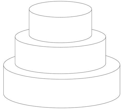 7 Best Images of Wedding Cake Template Printable   2 Tier