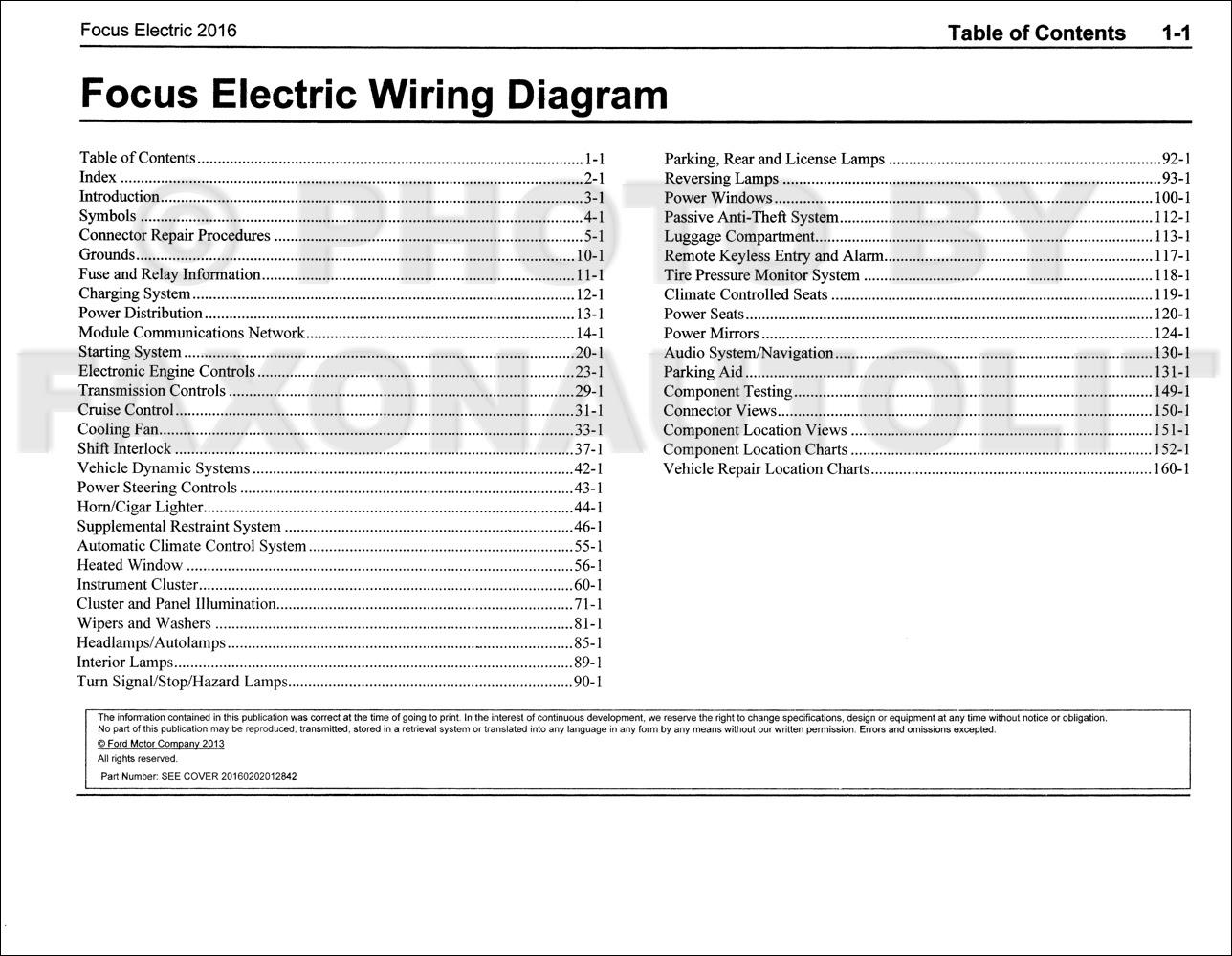 Manuals 2013 Ford Focus Electric Wiring Diagram Manual Original All Electric Plug In Full Version Hd Quality Plug In Guidemanualblog Ristoranteveganomilano It