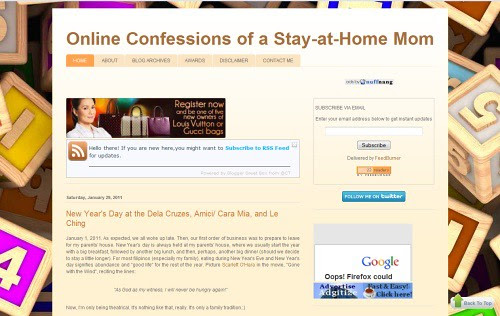 Online Confessions of a Stay-at-Home Mom