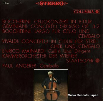 MAINARDI, ENRICO boccherini; cellokonzert in b-dur