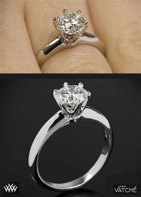 Two views of the classic 'Tiffany Style' Diamond Solitaire