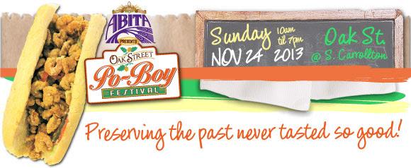Abita Beer presents the 2013 Oak Street Po-Boy Festival