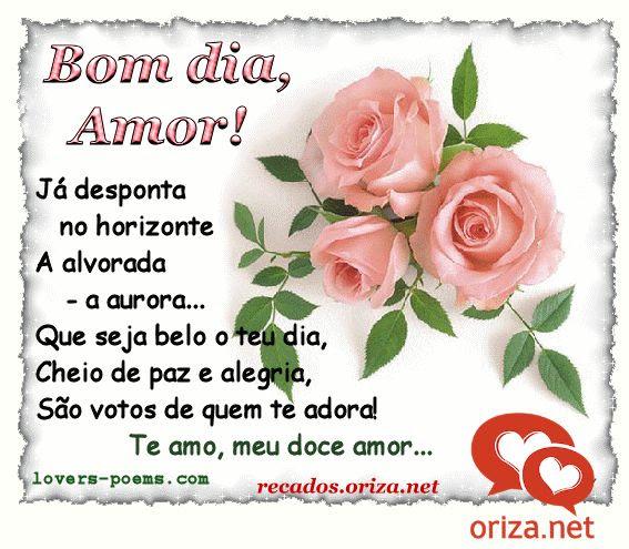 Bom Dia Meu Amor Te Amo Demais Oriza Net Portal Poemas E