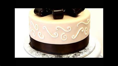 Brown Wedding Cake   Simple Wedding Cake Design   Fondant